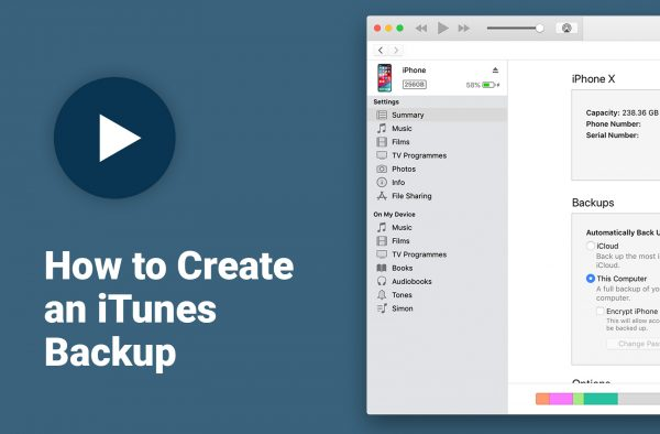 How to create an iTunes backup