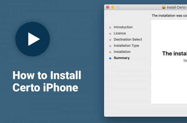 How to install Certo iPhone